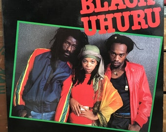 Black Uhuru • Guess Who's Coming To Dinner Vinyl LP 1983 Heartbeat Records Roots Reggae Dub Sly & Robbie