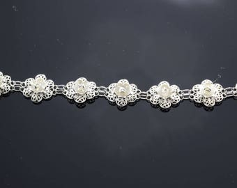 Filigree Flower Bracelet, Filigree Sterling Silver Bracelet, Sterling Bracelet