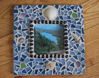 Mosaic Frame (Square Aquatic)