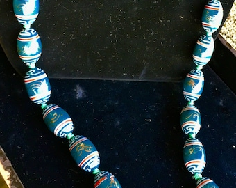 Hand Plated Porcelain Bead Necklace