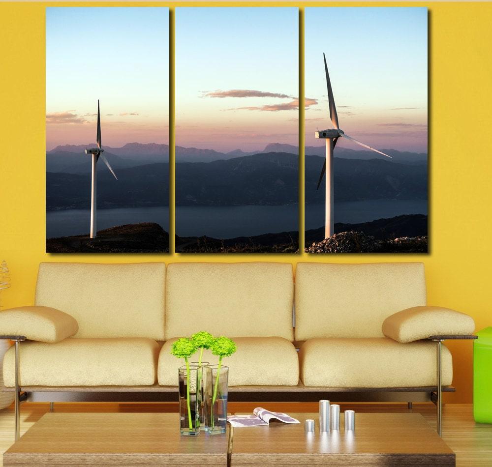 Wind Turbine Wall Art Multi Panels Set Engine Wall Art Canvas