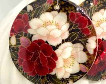 Shell earrings  flowers