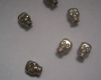 Silver metal skull charms
