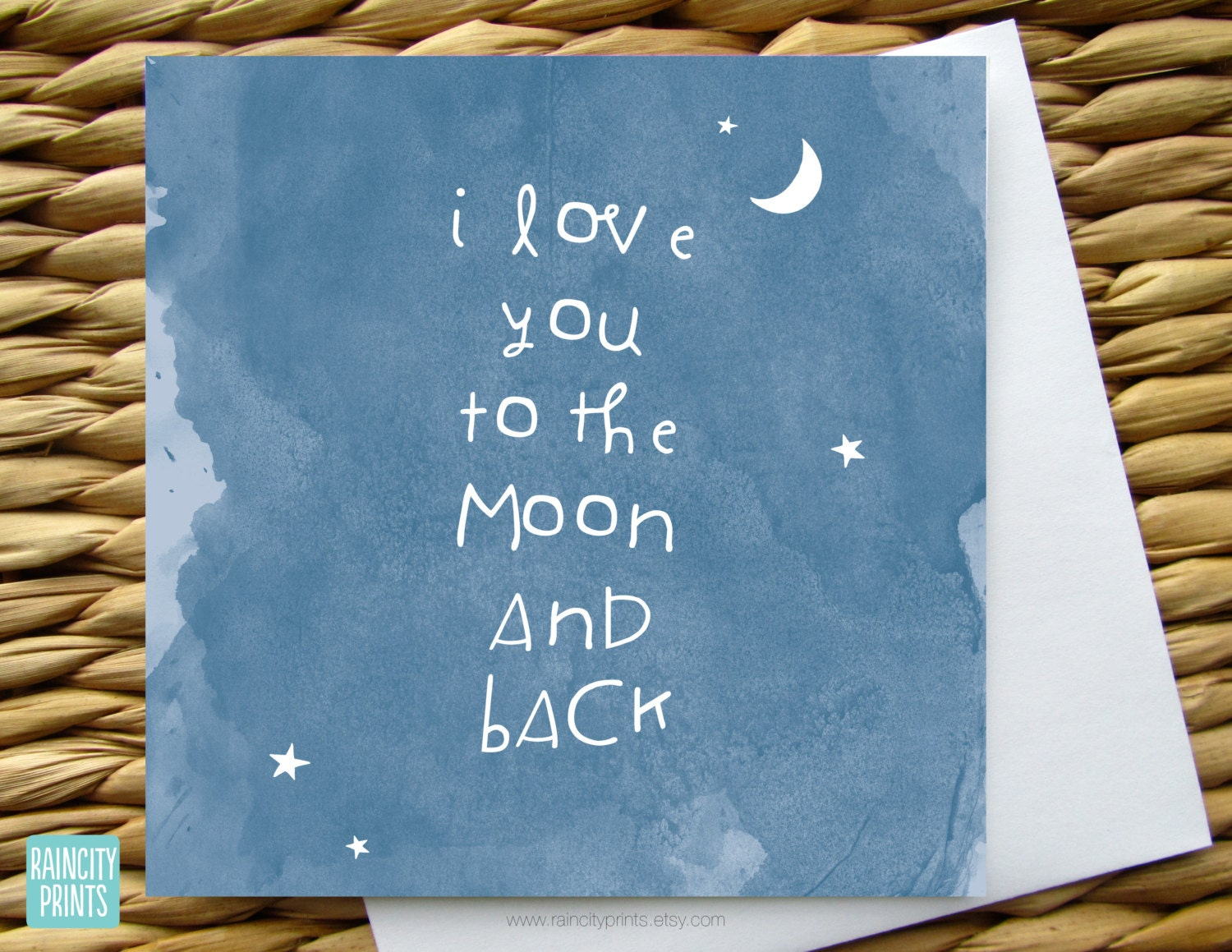 I love you to the moon and back greeting card valentines day zoom kristyandbryce Images