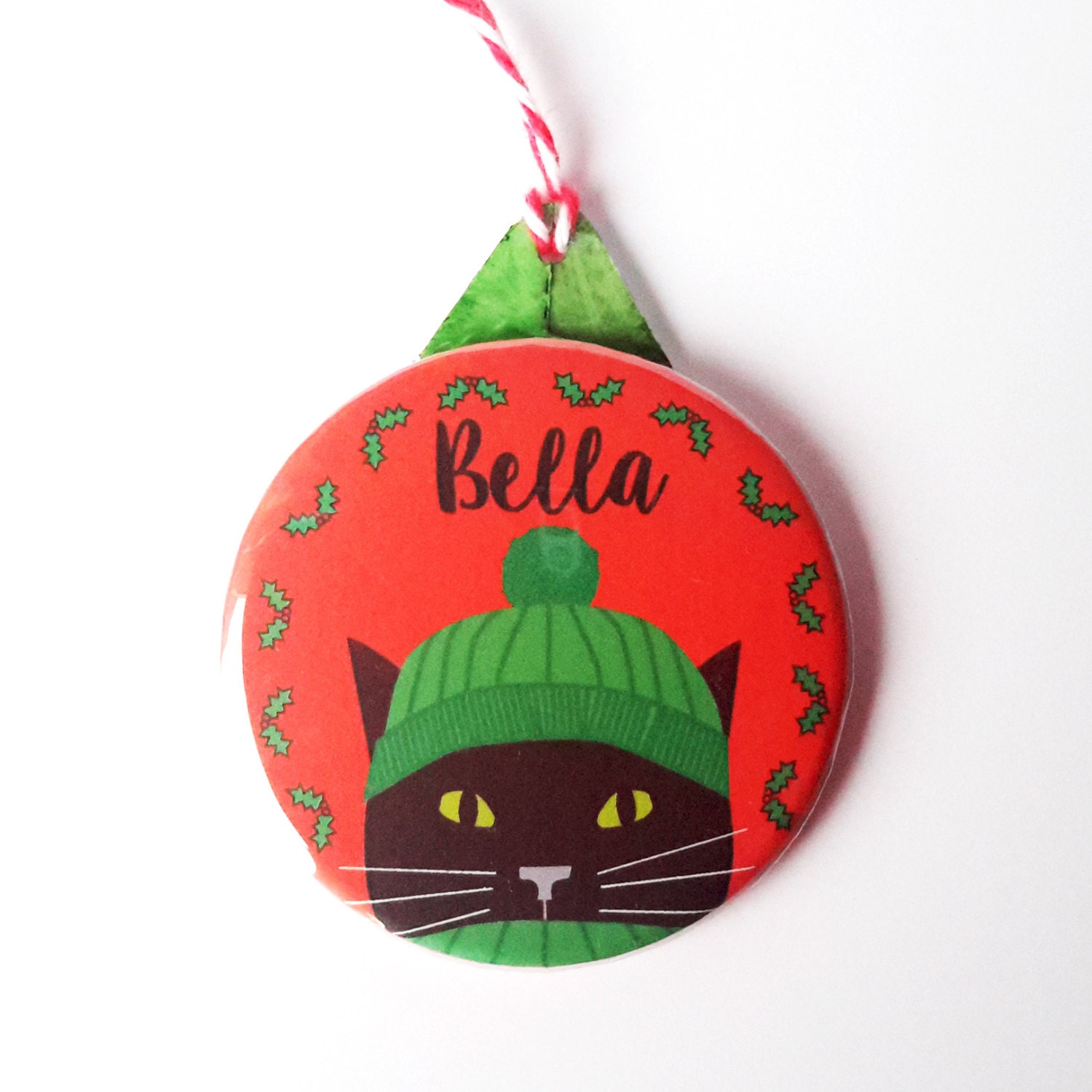 Christmas Tree Made Of Black Cats: Personalised Cat Christmas Decoration-Black Cat Christmas Tree