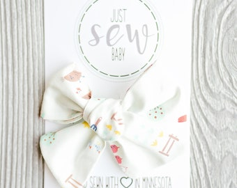 Classic Bow-Spring Bow-Fresh from the Farm-Hair Bow-Baby Bow-Over-sized Bow-Girls Bow