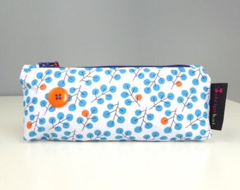 Pencil case with waterproof lining, Cosmetic case, Make-up bag, Unique case with waterproof lining, Handmade case