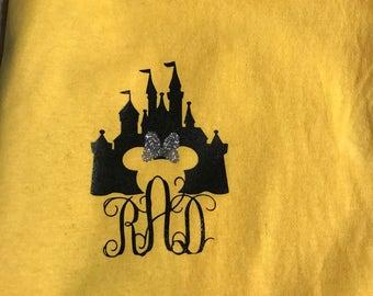 Monogrammed Disney Castle