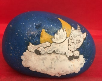 Painted rocks, hand painted rocks, hand painted stone, gifts under 50, stocking stuffers, painted unicorn, painted unicorn rock, unicorn