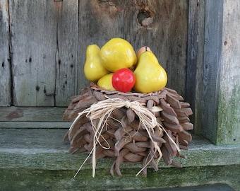 FARM HARVEST  BASKET  floral arrangement centerpiece