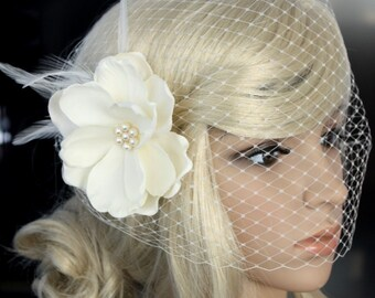Bandeau Birdcage Veil for wedding