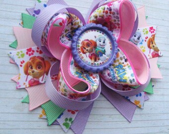 Paw patrol hair bows Skye Paw Patrol birthday Gift for kids Everest Skye hair clip Boutique hair bow Paw Patrol party favors Baby headband