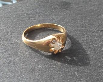 20% Off Sale Vintage Diamond Solitaire Ring