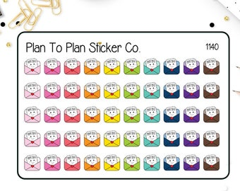 1140~~Kawaii Happy Mail Planner Stickers.