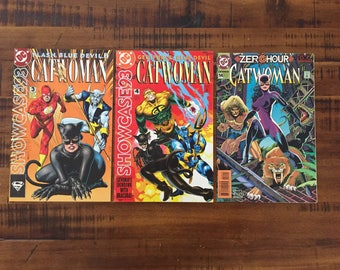 1993 Showcase 93 Catwoman #3, #4 and 1994 Catwoman #14 Comic Books / NM-VF/ Choose One or All Three for a Discounted Price!!!