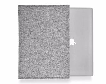 MacBook 12 inch sleeve, MacBook 12 case, MacBook 12 cover, MacBook 12 2016 - 100% pure wool felt made in Germany