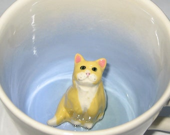 Yellow and White Fluffy Cat (In Stock)