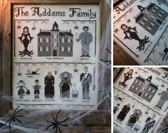 The Addams Family - PDF Digital Cross Stitch Pattern