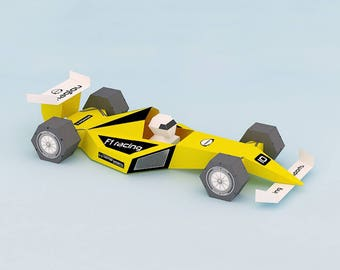 DIY Papercrafts,paper toys,Printable car,instant digital download,tabletop,desktop,party,gifting,decoration,F1 car,Paper toys,3d origami kit