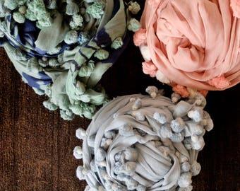 Silk Cotton Tasseled Scarf
