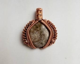 Picture Jasper Copper Wire Wrap Pendant