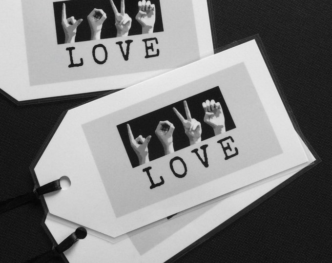 ASL LOVE Bookmark - American Sign Language - Inspirational Quotes - Buy 5 and Get One Free - Valentine Special