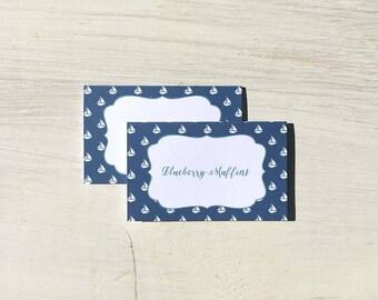 Food Tent Cards   Sailboat - Set of 12