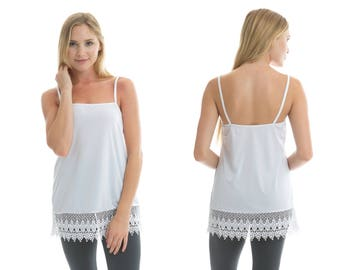 White Lace Shirt Extender