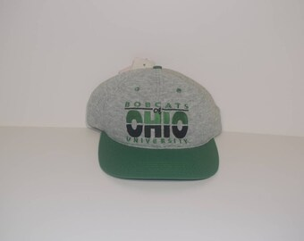 Vintage OH University of Ohio Deadstock Bobcats Snapback