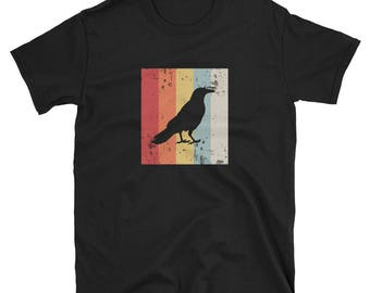 Crow Shirt Crow Gift Vintage Retro Distressed