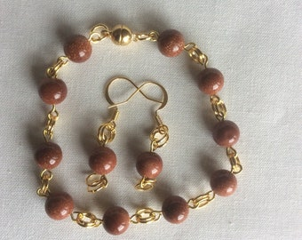 Sparkle bracelet and earrings