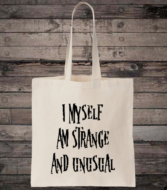 I Myself Am Strange And Unusual Quote Cotton Shopping Tote Bag