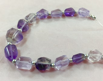 1 Strand Amethyst Beaded Necklace @SS48
