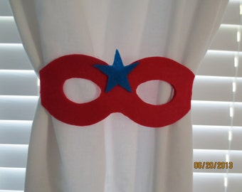 Super Hero Curtain Tie-backs Set of 2