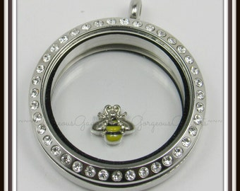 Bumble Bee Floating Charm for Glass Locket / Floating Locket / Living Locket