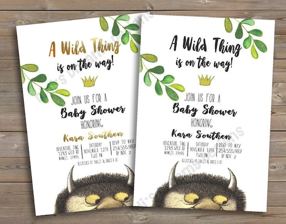 Beautiful Where The Wild Things Are Baby Shower Or Birthday Invitation