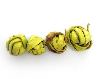 Balls, lemon, orange peel, 18-30mm, 4 pieces, per