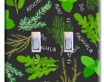 Kitchen Herbs Light Switch Plate Cover Decor Kitchen Print