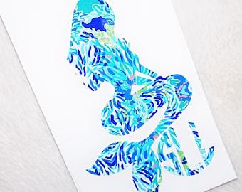 Mermaid Monogram Vinyl Decal - Lilly Pulitzer Inspired