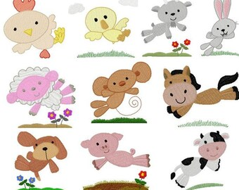 Jumping Farm Animals