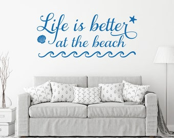 Beach Quotes Etsy - Wall decals beach quotes