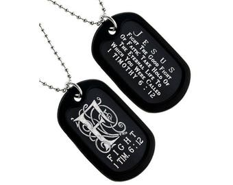 Fight - Dog Tag Necklace