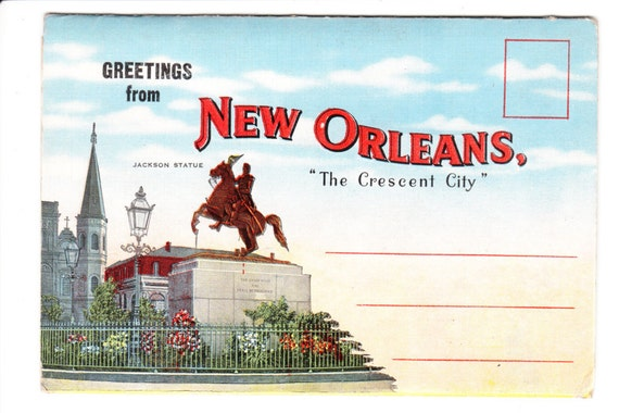 Greetings from new orleans louisiana vintage postcard folder unused greetings from new orleans louisiana vintage postcard folder unused from picturesfromthepast on etsy studio m4hsunfo