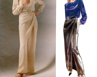 Vogue American Designer 2509 Sewing Pattern by Bill Blass for Misses' Top and Pants - Uncut - Size 10-12