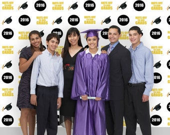 Hats Off to Our Grads Graduation Backdrop (GRD-VS-003)