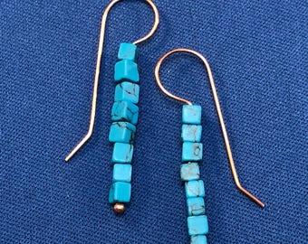Cube Turquoise earrings