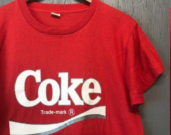 M * Vintage 80s COKE screen stars t shirt * coca cola