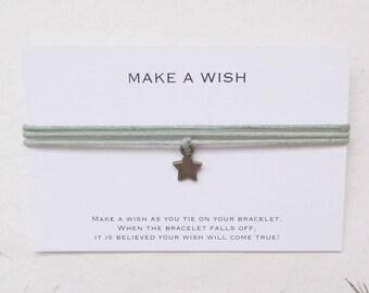 Make-a-wish armbandje met ster, wensarmbandje ster, armband ster