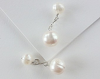 White Freshwater Pearl Cuff Links