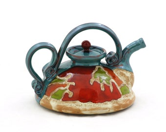 Ceramic Teapot, Pottery Teapot, Mother's day gift, Unique quirky teapot, Stoneware pot, Classic teapot, Handmade teapot, Easter gift